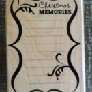 2010 Hampton Art Rubber Stamp RS3731 Christmas Memories by Alison Wong