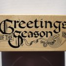 "New Unused 1991 PSX Rubber Stamp F-312 ""Greetings of the Season"" Never Inked"
