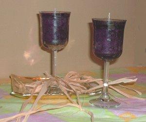 Mabon Muscadine (Grape) Wine Candle in Wineglass