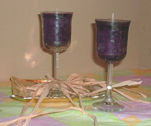 Muscadine Wine Candle in Wineglass