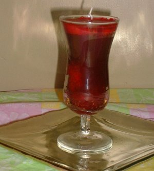 Love Candle in Wine Glass
