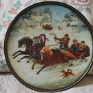 BRADFORD EXCHANGE Russian A Winter Sleigh Ride Plate 1990