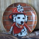 DANBURY MINT Sparky Fireman Dog Decor Plate 1992