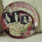 FRANKLIN MINT Hide And Seek Cat Decor Plate 1991