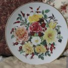 FRANKLIN MINT Majesty Of Rose Flower Plate 1991