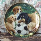 FRANKLIN MINT Puppy Dog Decor Plate 1991 ASPCA