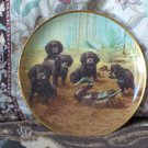 FRANKLIN MINT Team Practice Puppy Dog Plate 1991
