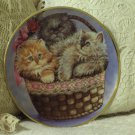 FRANKLIN MINT Three Little Kittens 1991 Cat Plate