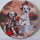 HAMILTON Dalmation Dog Decor Plate 1995 Pooches