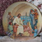 HERITAGE HOUSE Jesus Plate Teach Children 1986