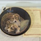 MM DOUBLE DELIGHT Puppy Dog Collectors Plate 1984