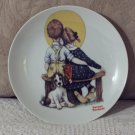NORMAN ROCKWELL Boy And Girl Child Decor Plate