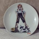 NORMAN ROCKWELL Boy On Stilks Decor Plate