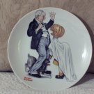 NORMAN ROCKWELL Grampa and The Pumpkin Decor Plate