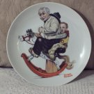 NORMAN ROCKWELL Grampa Rocking Horse Decor Plate
