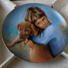 THE HAMILTON COLLECTION Plate The Golden Puppy 1986
