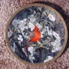 WJ GEORGE Bird Rain Flowers Decor Plate 1993