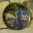 WJ GEORGE The Swan Wildlife Bird Decor Plate 1988