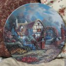 WJ GEORGE Wiltshire Rose Cottage Plate 1992