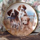 FRANKLIN MINT Sporting Trio Puppy Dog Plate 1991