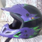 THH Motocross Motorcycle Helmet Black Base Sz Large  Adjustable or Removable Chin Guard