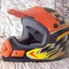 THH Motocross Motorcycle Helmet Black Base Sz Lg Youth