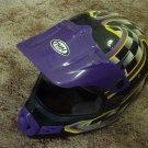 THH Motocross Motorcycle Helmet Black Base Sz Small