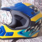 THH Motocross Motorcycle Helmet Yellow Base Sz Large