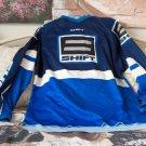 SHIFT Motocross Racing Shirt Dark Blue White Blue Sz XL