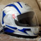 THH Motorcycle Helmet White Blue Sz  Extra Sm Used