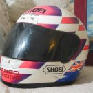 SHOEI Full Motorcycle Helmet Sz. XL Used White Pink