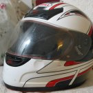BELL Motorcycle Helmet Size Large Black Red White Used