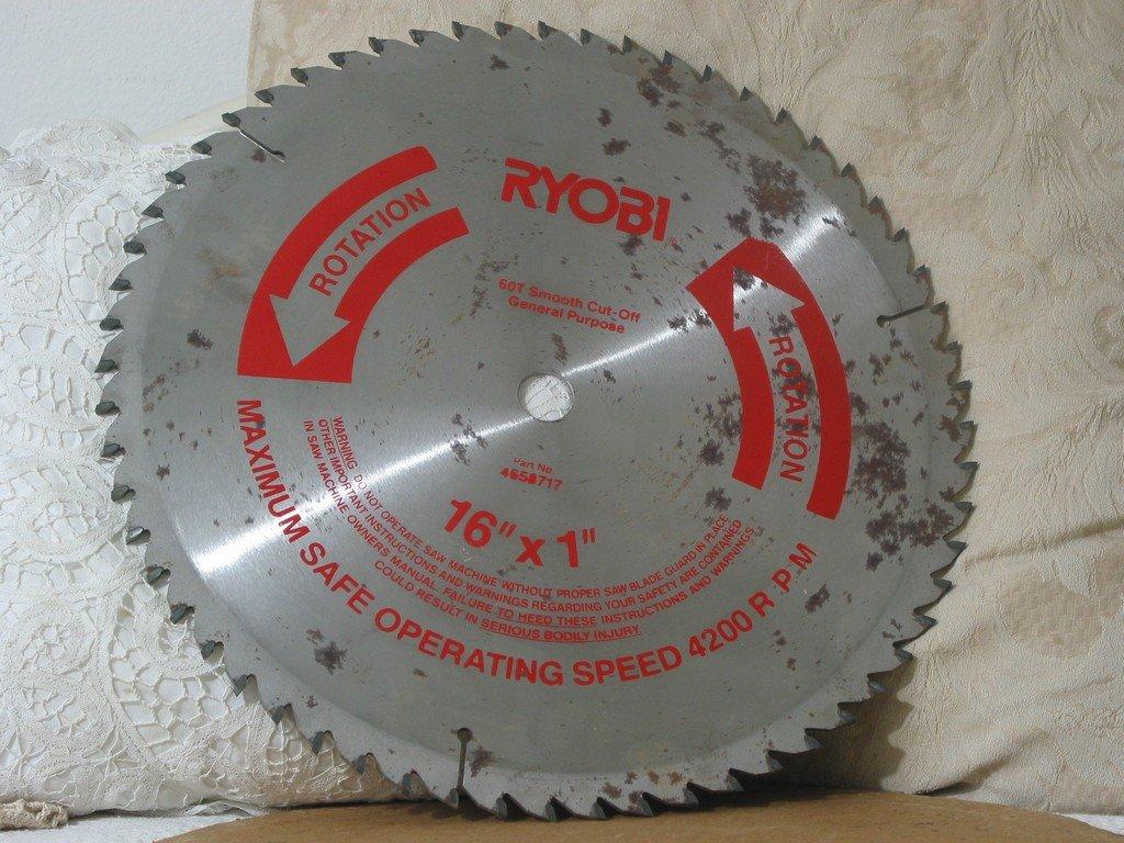 RYOBI 16 X 1 Smooth Cut Off Circular Saw Blade 60T