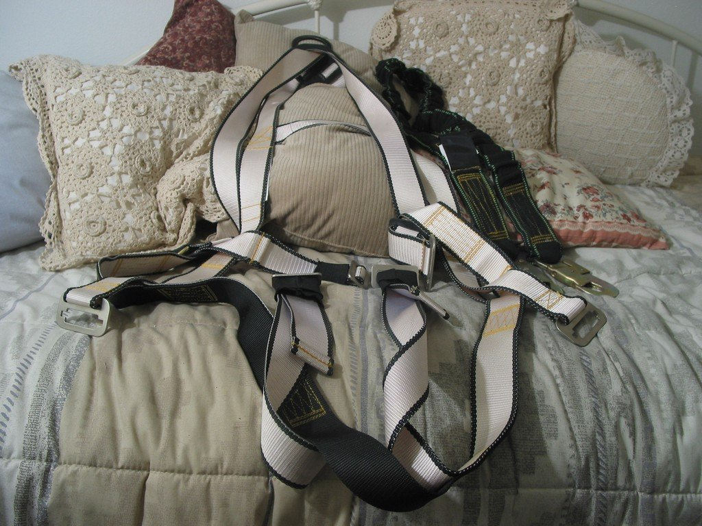 MADACO Safety Fall Harness with Lanyard Tuff Belt Used