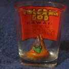 HAWAII Volcano Gold Shot Glass - Decorative Only