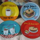 GODINGER 4 Decorative Porcelain Food Drink Plate