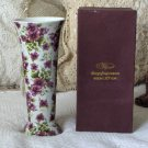 VA BENE Purple Flower Transfer Decorated Vase Defective