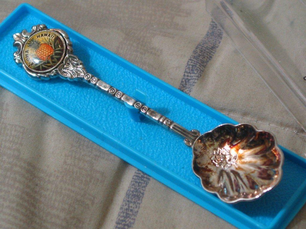 ALOHA HAWAII Stuart Souvenir Silverplated Tourist Spoon