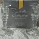 CANDLESTICKS Gorham Full Lead Crystal 5 in Tall Unused