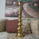 BRASS CANDLE HOLDER 29 in Tall Large Candlestick Used