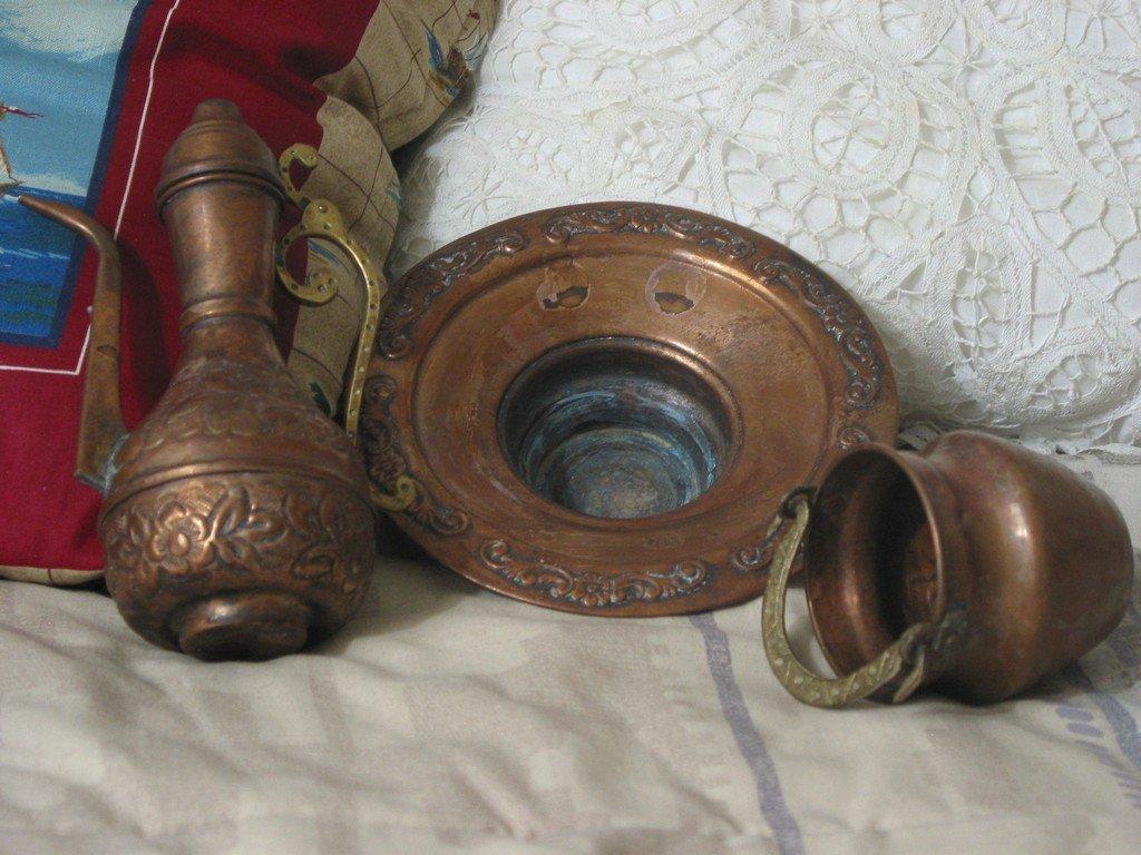 COPPER Tea Pot Bucket Very Small Decorative Used