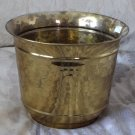 FLOWER POT 8 X 6 in Tall Brass Decorative Floral Used