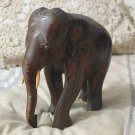 ELEPHANT Decorative Brown Wood Wooden 7 X 7 inch Used