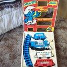 SMURF Choo Choo Plastic Toy Train Set 1981 Railroad
