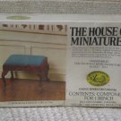 XACTO HOUSE OF MINIATURES Chair Ottoman 1978 No 40031