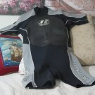 JETPILOT 2 2 Men XX Large Black Grey Wetsuit Used