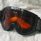 SCOTT Brand Skiing V8 Snow Goggles Black Frame Used