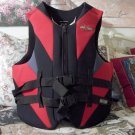 HO SKIS Life Vest Jacket Size 48 to 52 inches Red Black Used