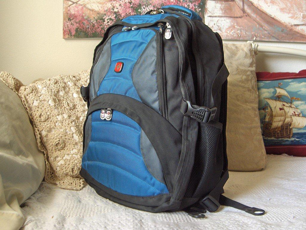 SWISS ARMY Wenger Older Soho Design Laptop Computer Daypack Backpack Hiking Rucksack Used