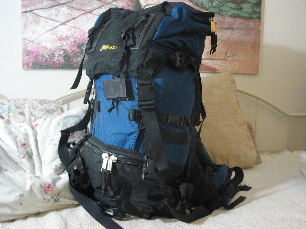 OUTBOUND Internal Frame Blue Black Backpack Camping Used